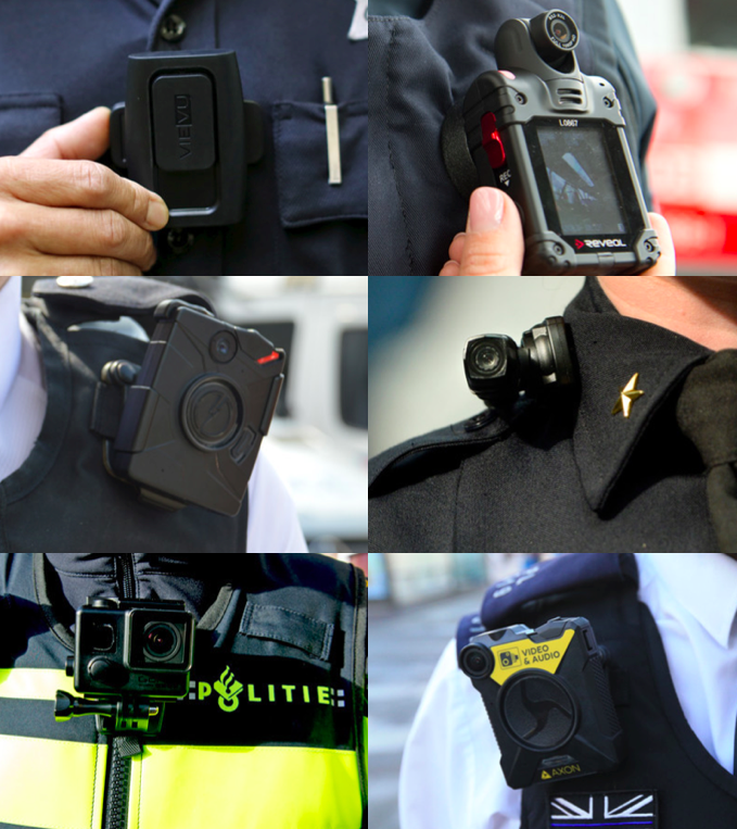 Bodycams of different manufacturers